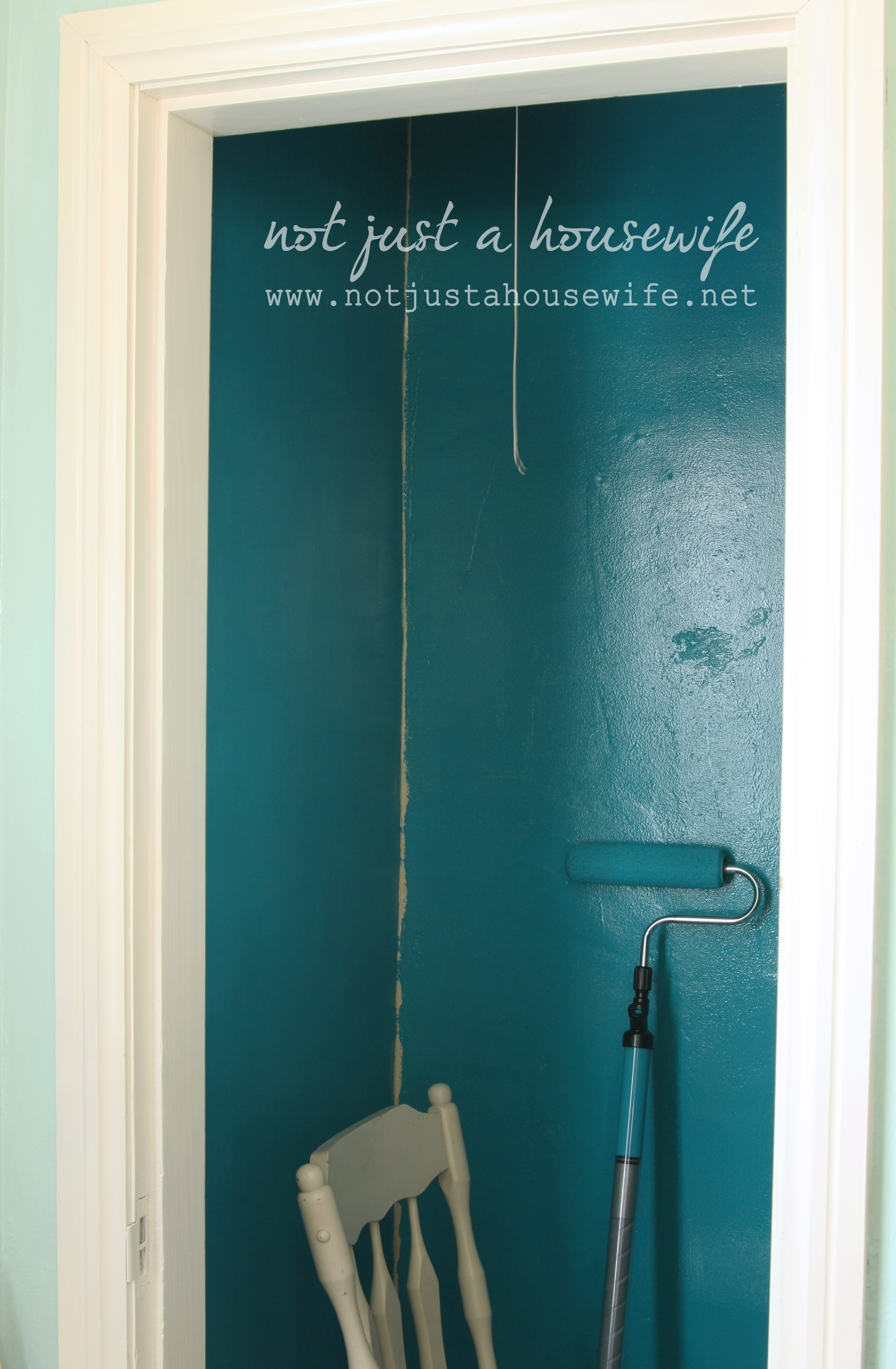 Closet makeover part 1 paintstick review not just a for What color to paint closet