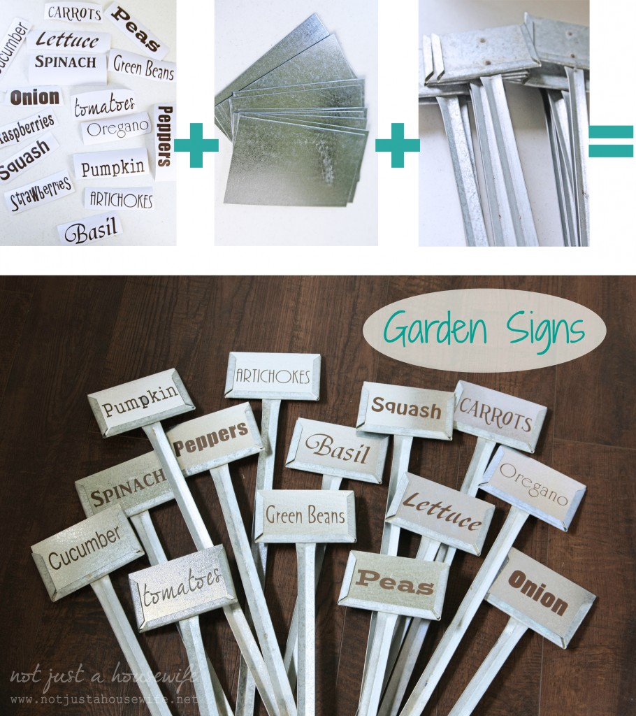 garden signs metal 910x1024 Garden Signs {and a Silhouette Portrait GIVEAWAY!!!}