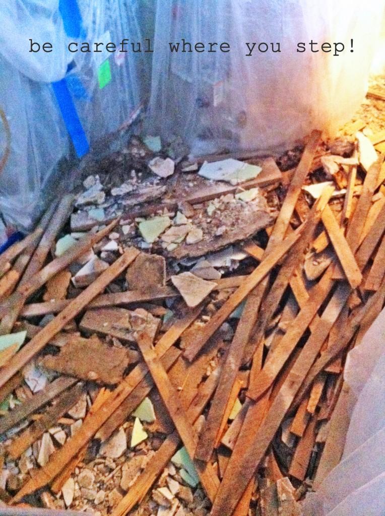 lathe-plaster-on-floor
