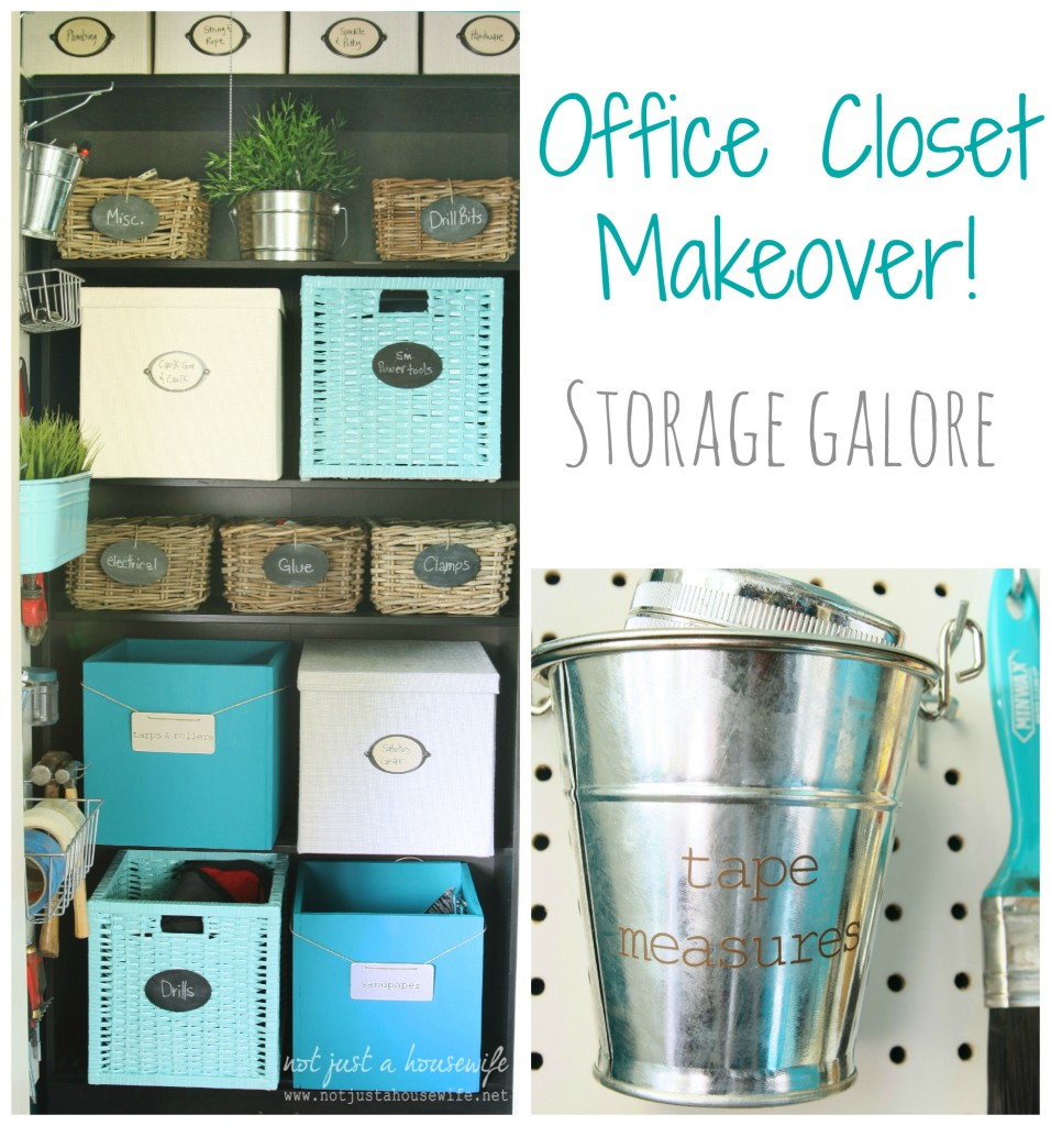 office closet collage2 956x1024 Office Closet Makeover {The Big Reveal!}