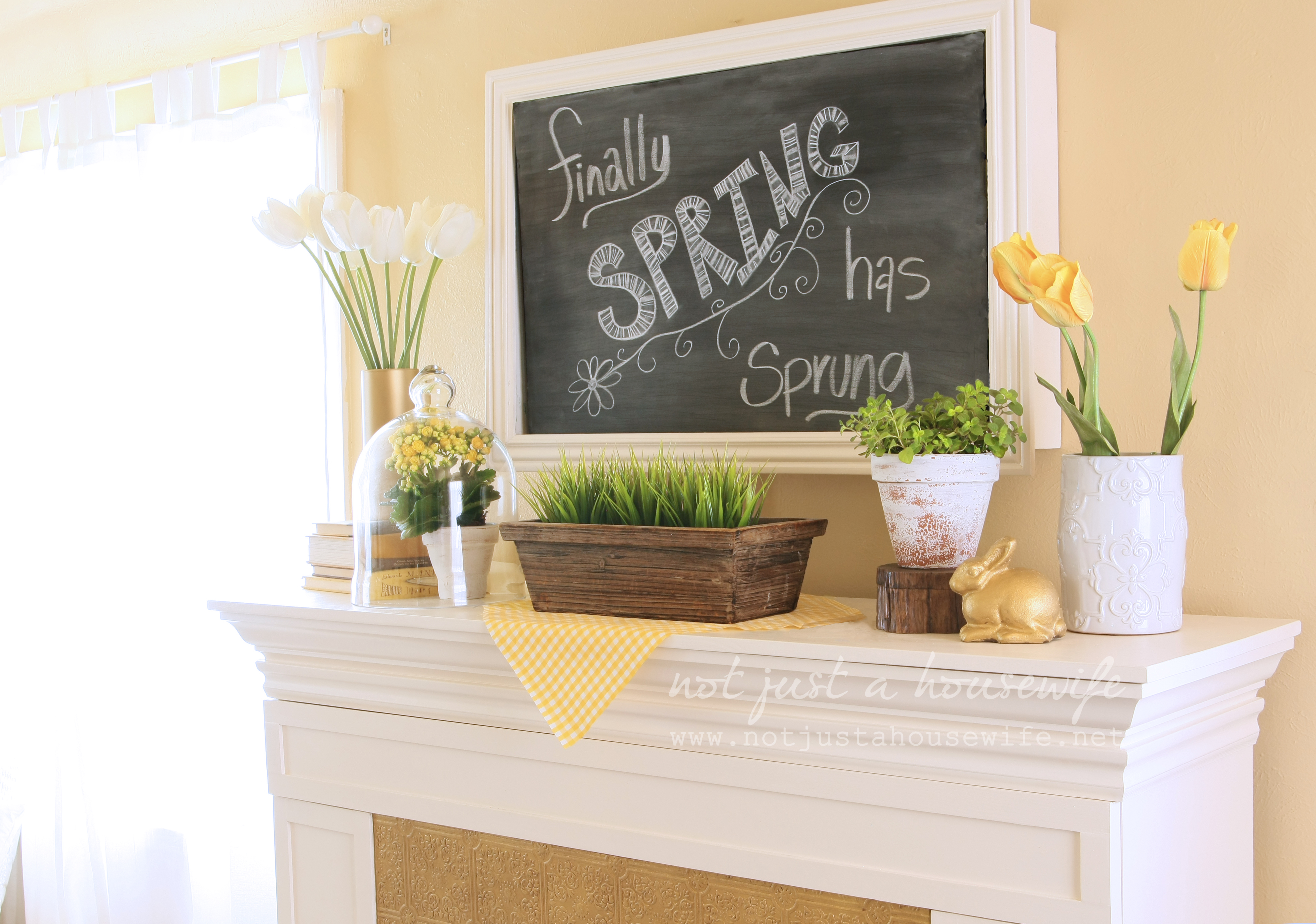 Spring Mantel Not Just A Housewife