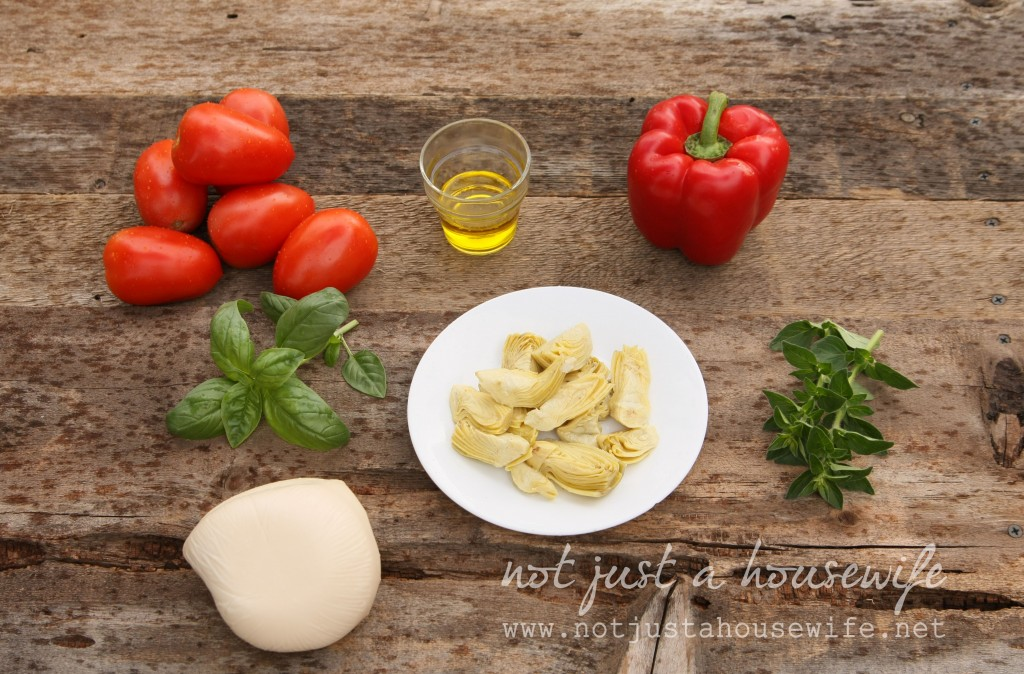 tomato-artichoke-bruchette-ingredients