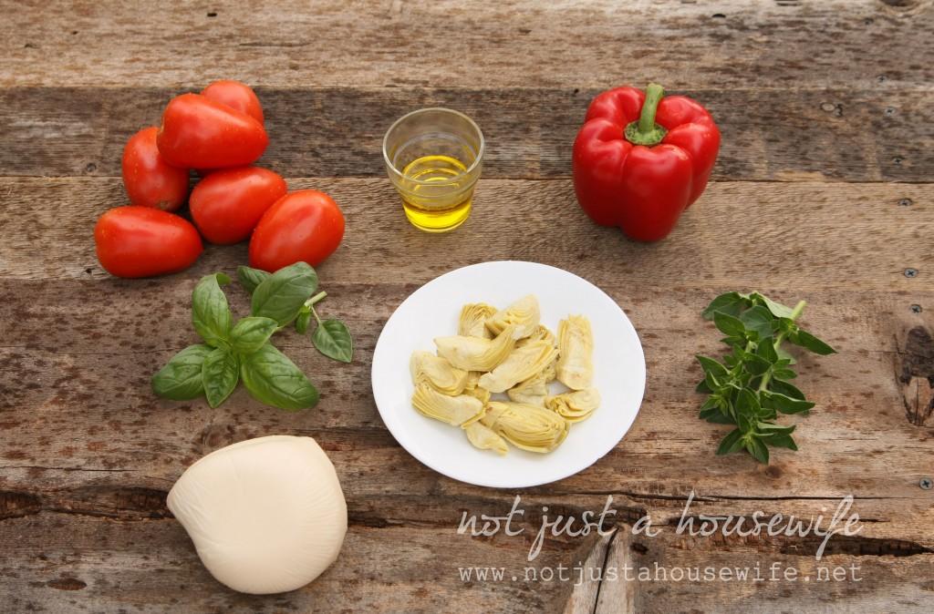 tomato-artichoke-bruchette-ingredients