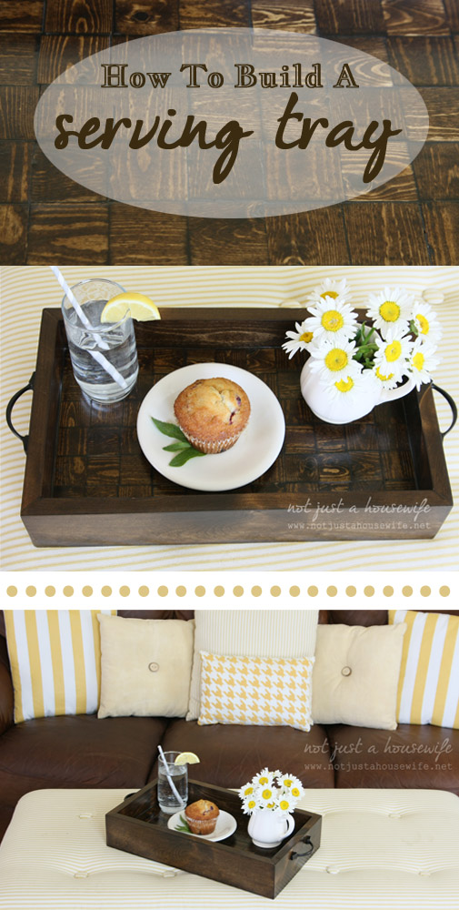 how to build a serving tray  How To Build A Wood Serving Tray {$250 HD Gift Card Giveaway!}