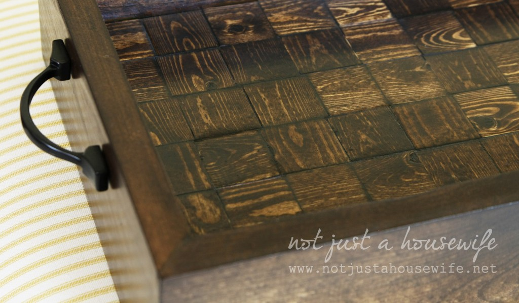 serving tray up close 1024x597 How To Build A Wood Serving Tray {$250 HD Gift Card Giveaway!}