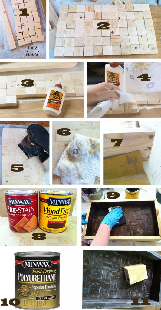 steps in making tray 532x1024 How To Build A Wood Serving Tray {$250 HD Gift Card Giveaway!}