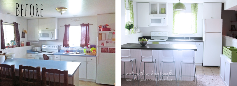 kitcehn before after The 2 Day Kitchen Makeover!