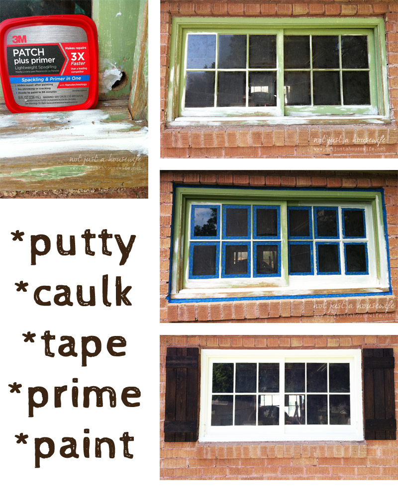 window paint putty caulk prime How To Paint An Old Window