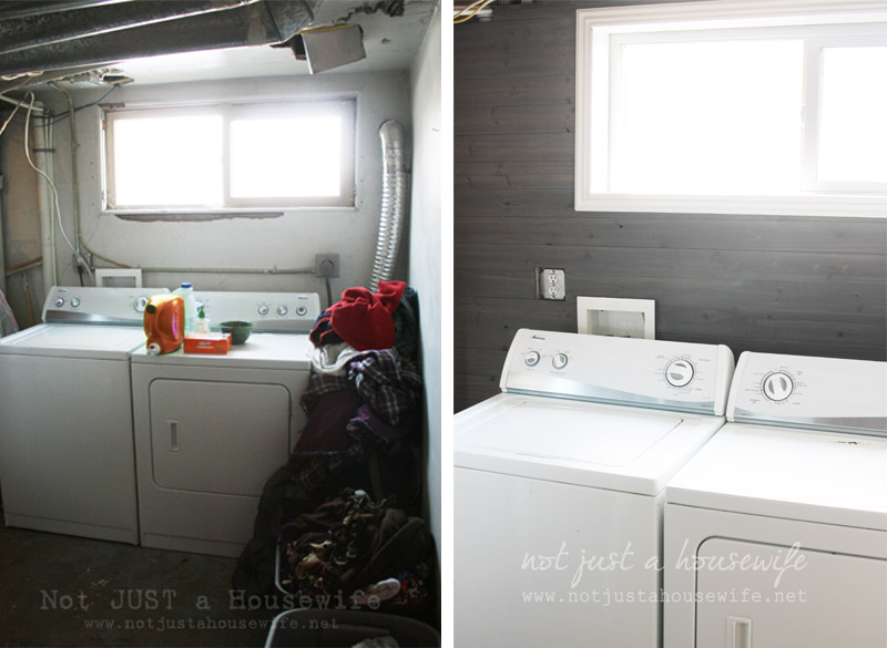before and after Laundry Room Update + $500 Home Depot Gift Card GIVEAWAY!!!