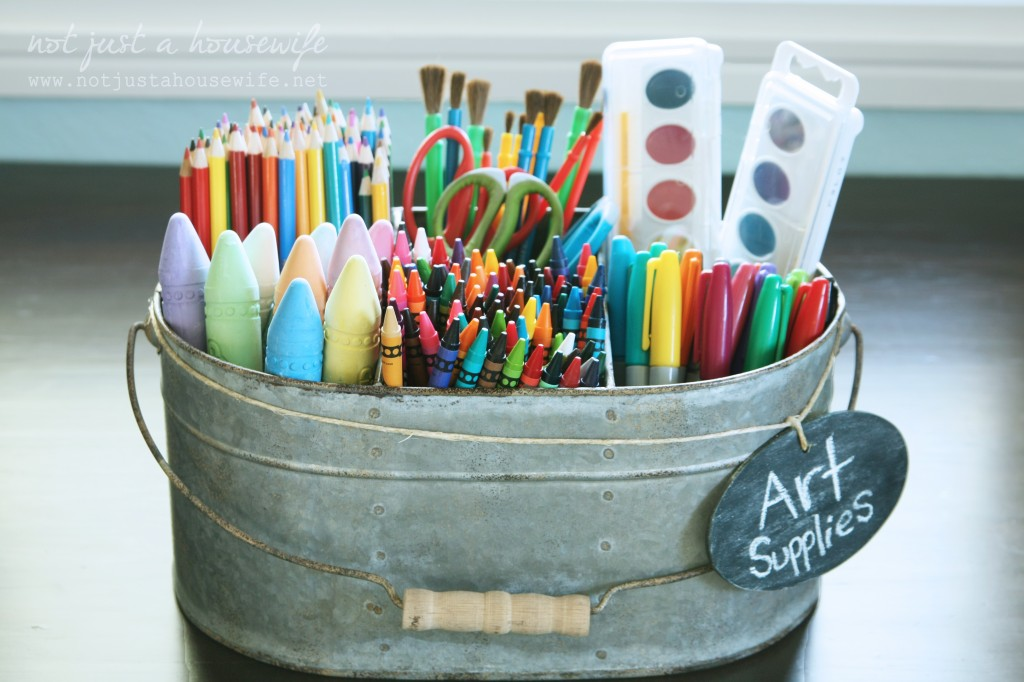 Art Supplies Via Not Just A Housewife. Cute And Thrifty DIY Storage  Solutions
