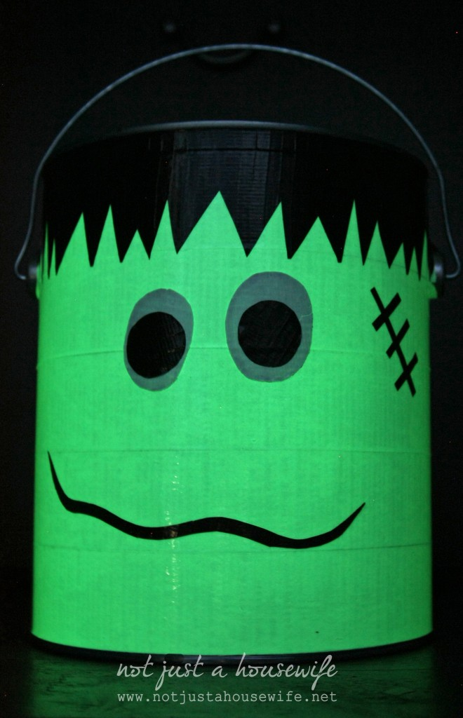 glow in the dark frankenstien trick or treat bucket 660x1024 Glow in the Dark Trick or Treat Bucket