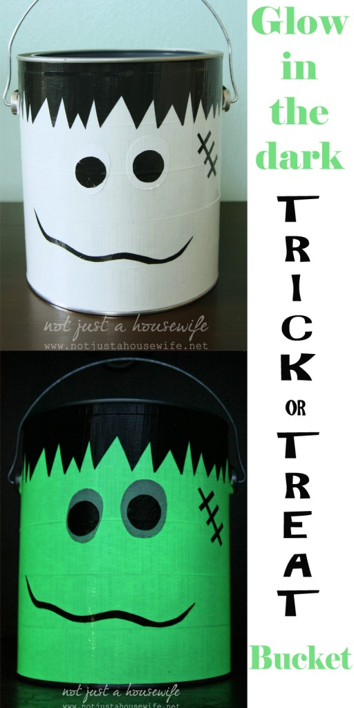 glow in the dark trick or treat bucket