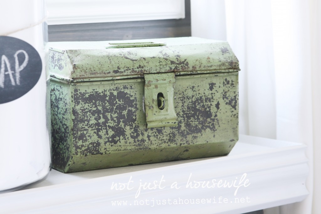 laundry room antique metal box