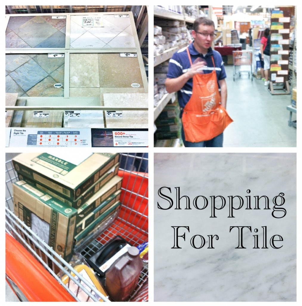 shopping for tile 1013x1024 Drywall, Orange Buckets, and Tile.... Oh My!