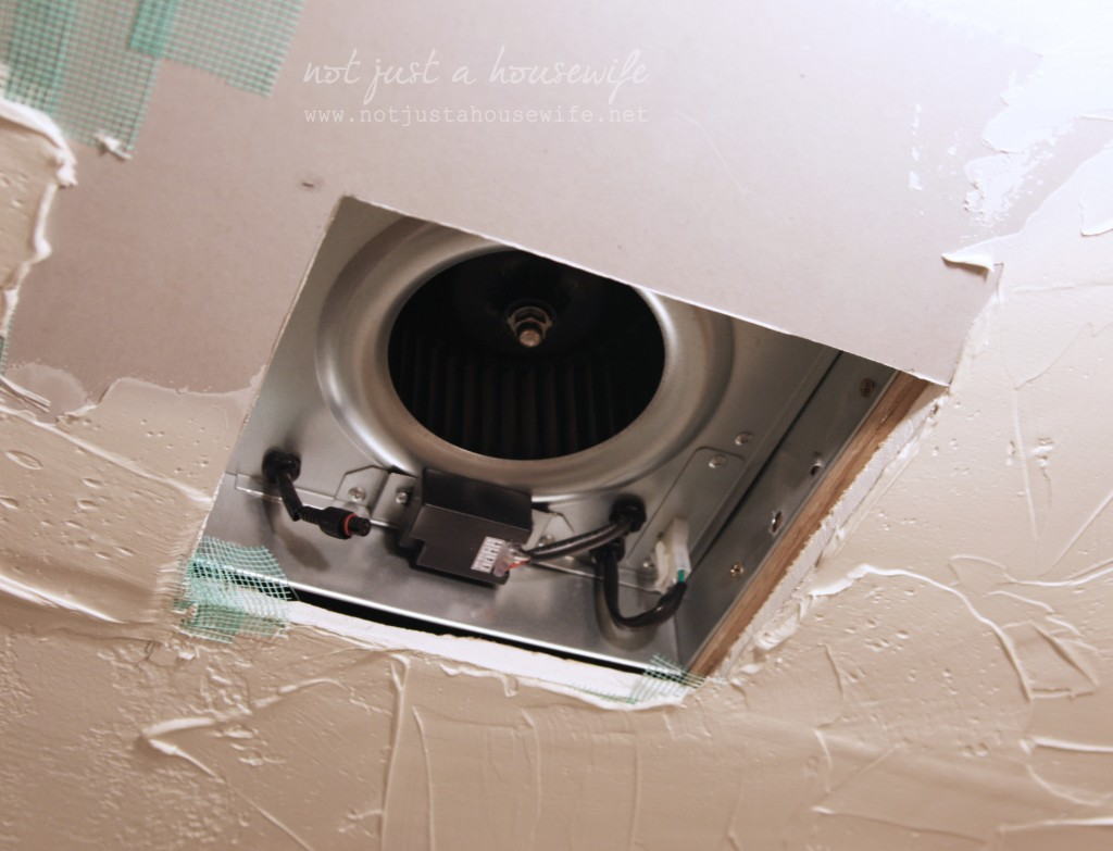 Bathroom update and an awesome giveaway stacy risenmay for Installation of bathroom exhaust fan