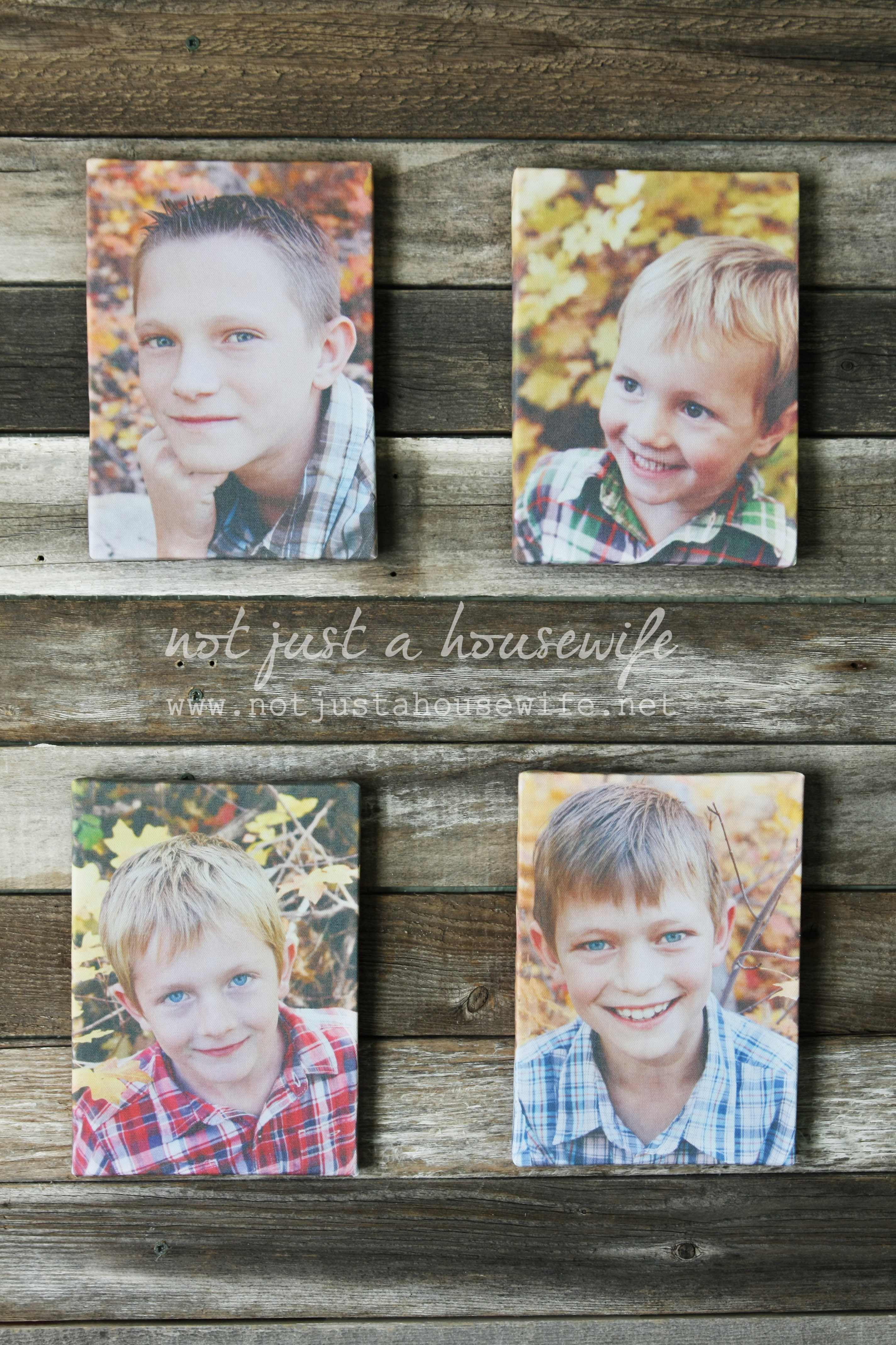 DIY Canvas Photo Prints   Not JUST A Housewife