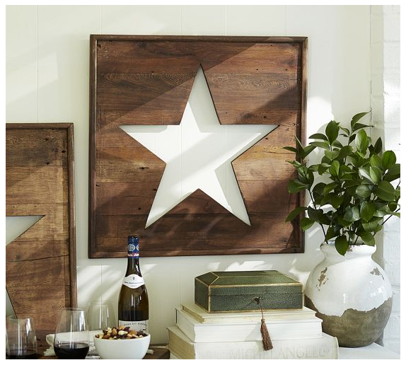 pb star Wooden Star Sign