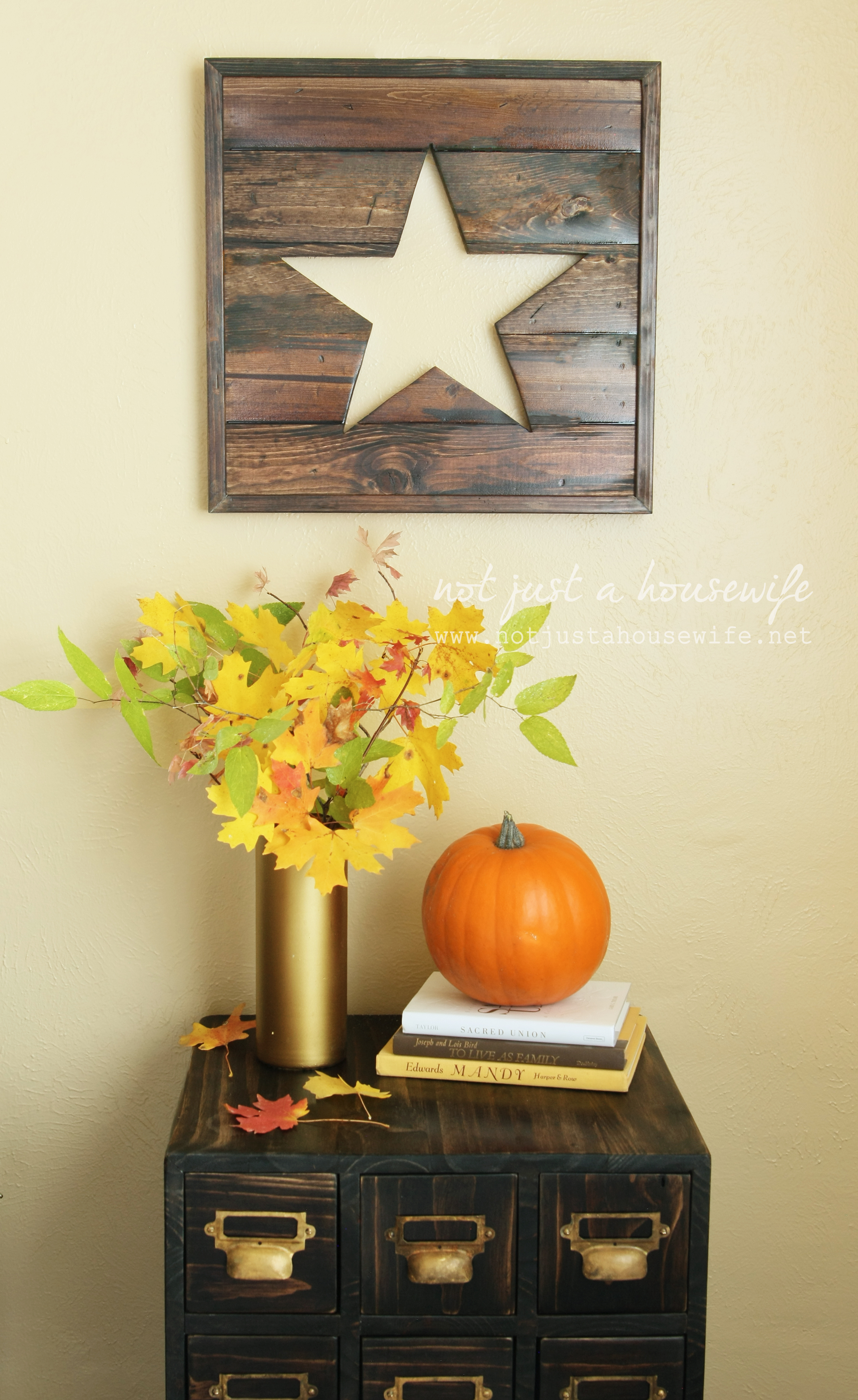 DIY Fall Decor with Not Just a Housewife