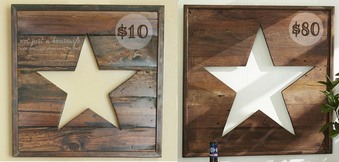 stars Wooden Star Sign
