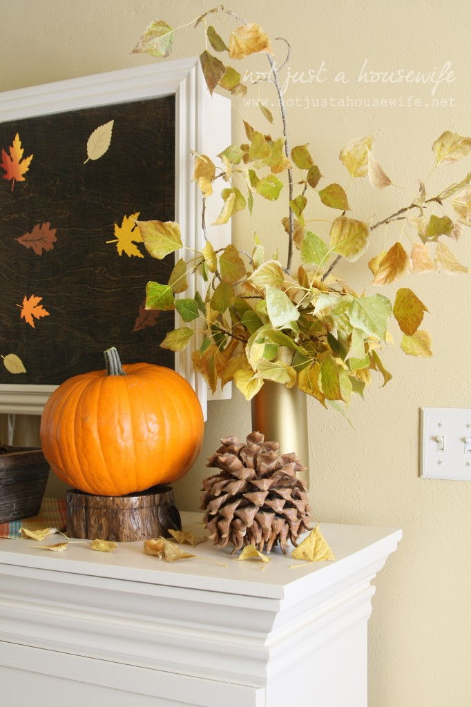 fall mantle 682x1024 Fall Artwork and My Mantel Reveal