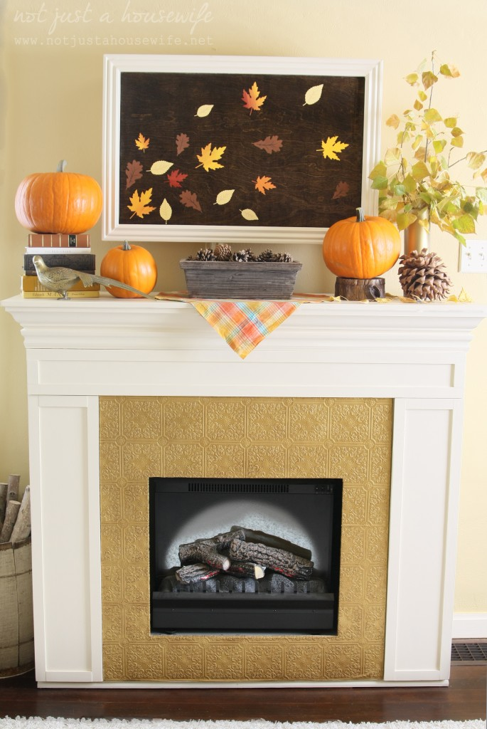 fireplace fall mantel edited 11 685x1024 Fall Artwork and My Mantel Reveal