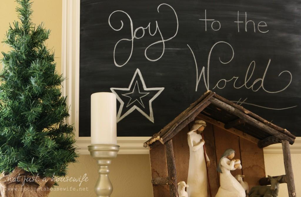 christmas chalkboard 1024x672 Christmas Home Tour 2013