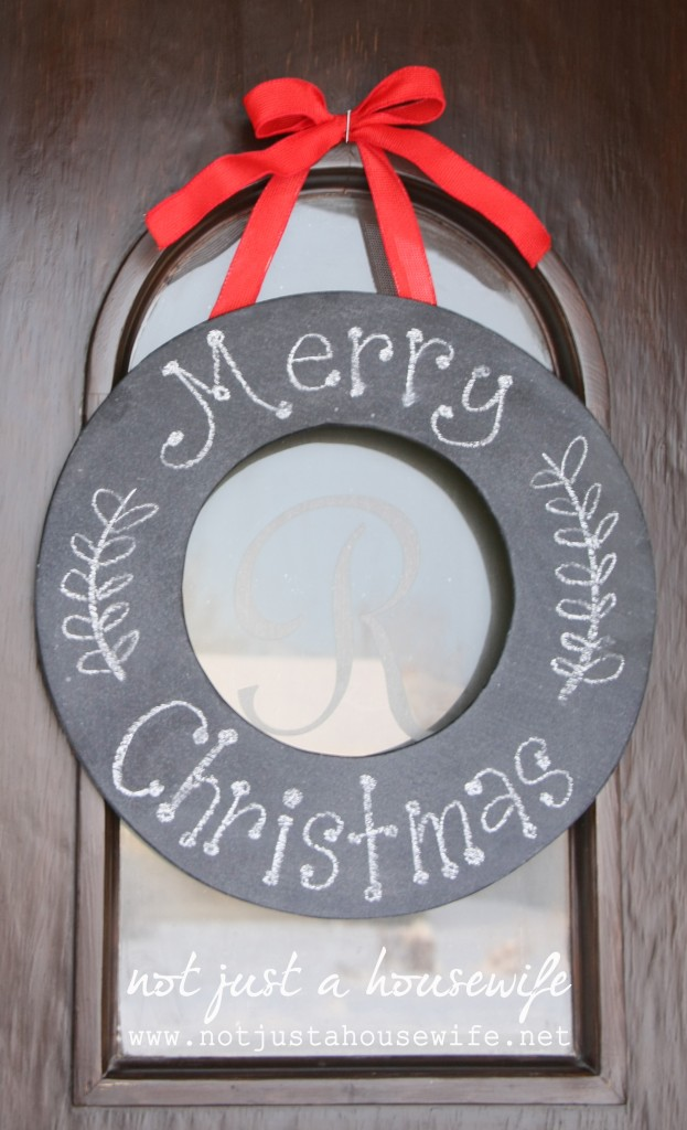 Christmas home tour: Chalkboard Wreath