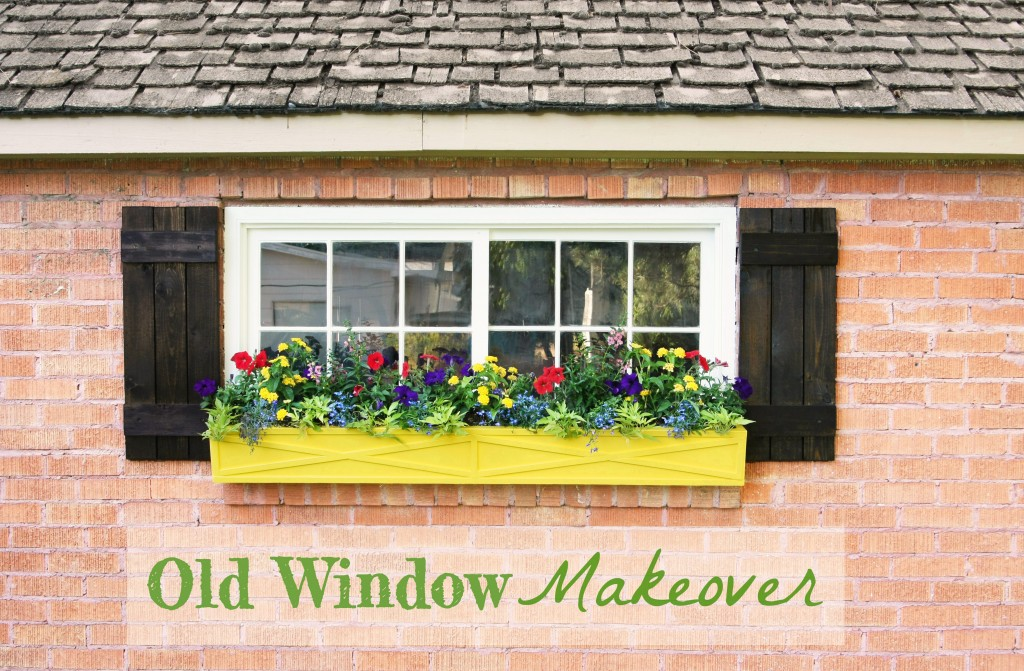 Old Window Makeover