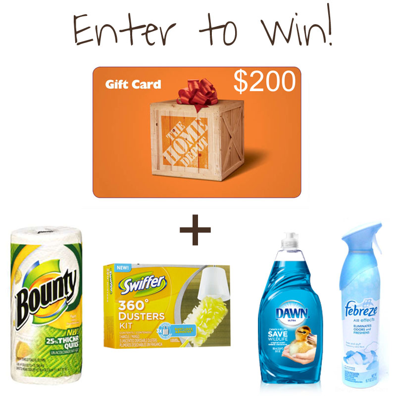 pg prize pack Home Depot GIVEAWAY!!!