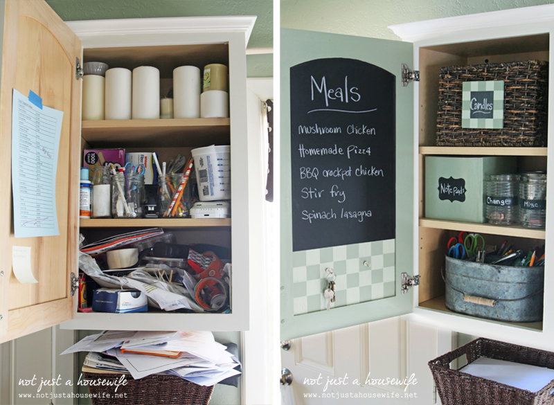 before and after 1 The Junk Cabinet {and a Home Depot Gift Card Giveaway!!!}