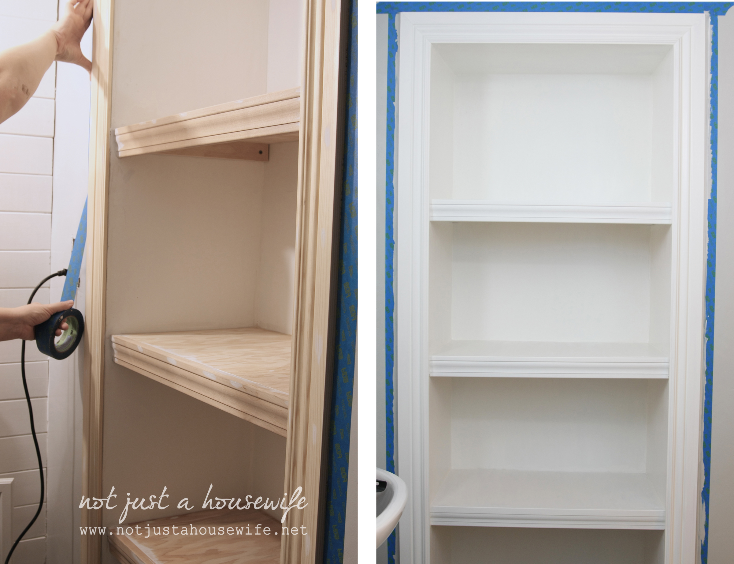 Bathroom Shelves! - Stacy Risenmay