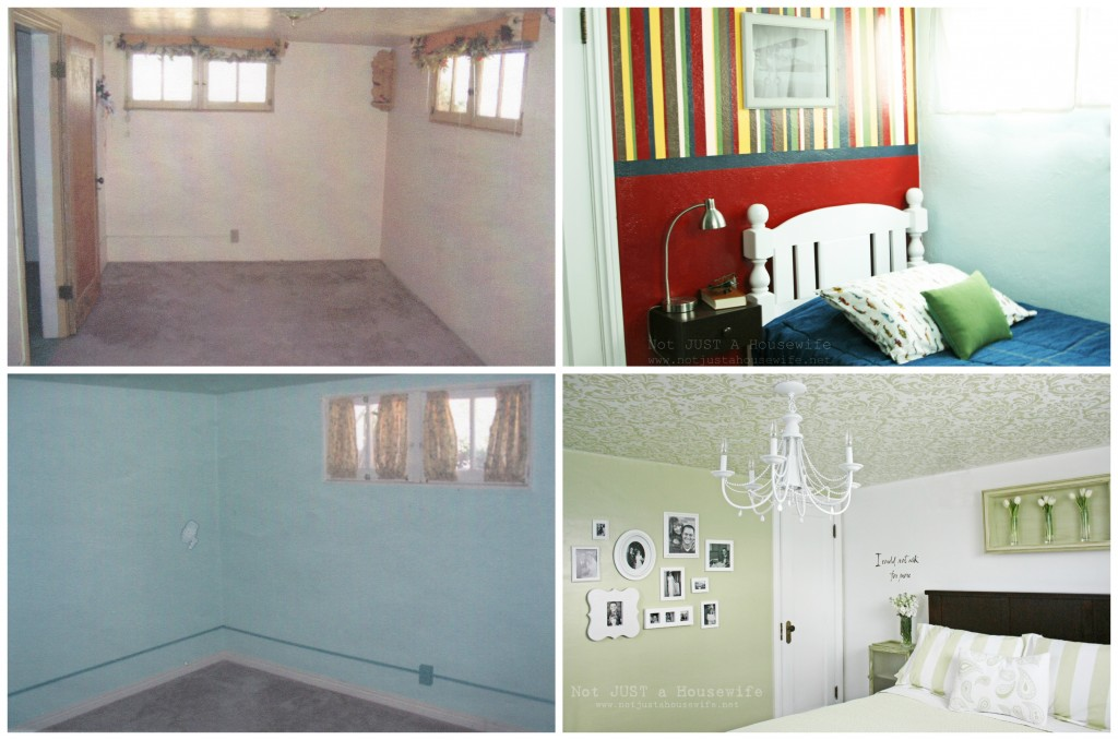 bedrooms before and after