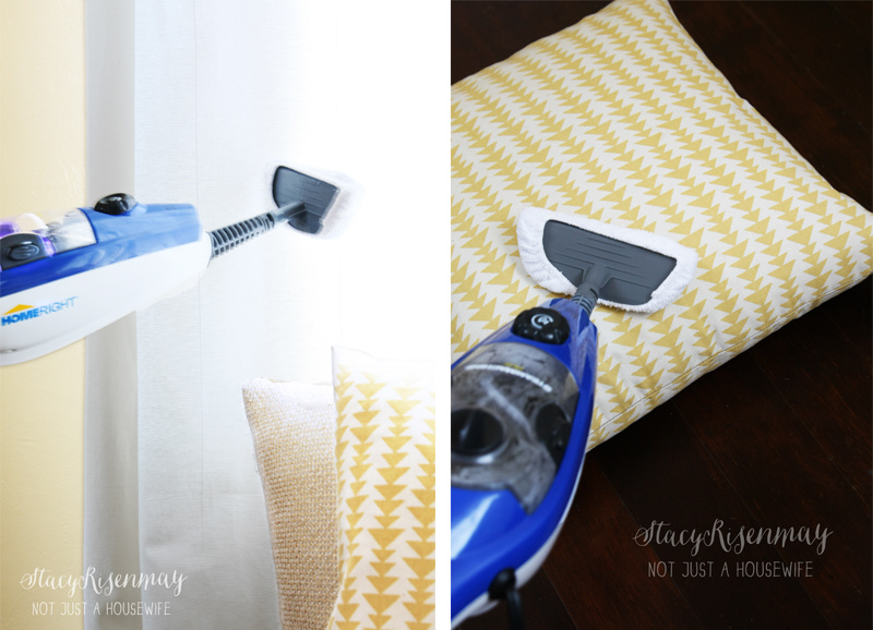 steam mop plus steaming curtains and pillow