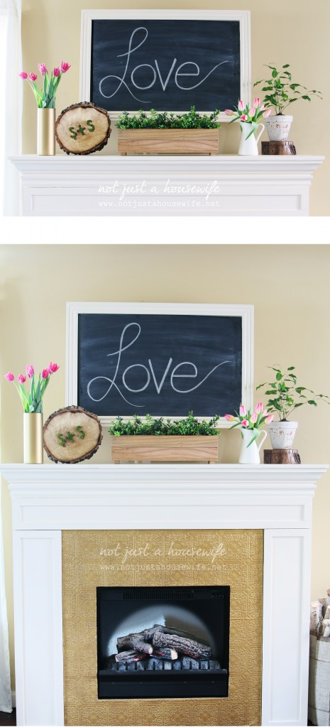 valentine's day mantel decor 1