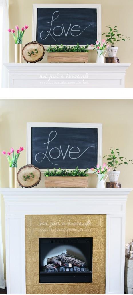 valentine's day mantel decor 1