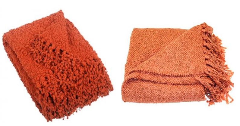 coral throw blankets
