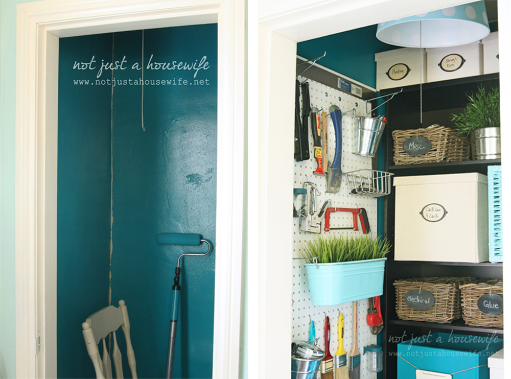Paint Stick Office Closet