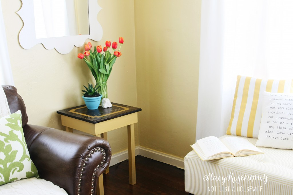 side table makeover edited 1 1024x682 Gold Table {Makeover}