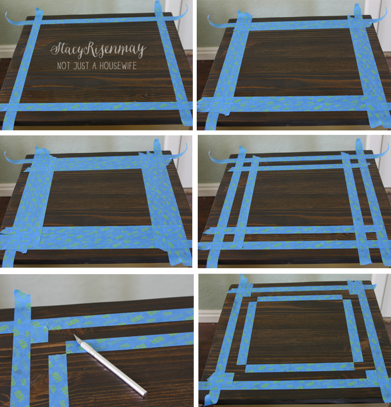 taping off design edited 1 Gold Table {Makeover}