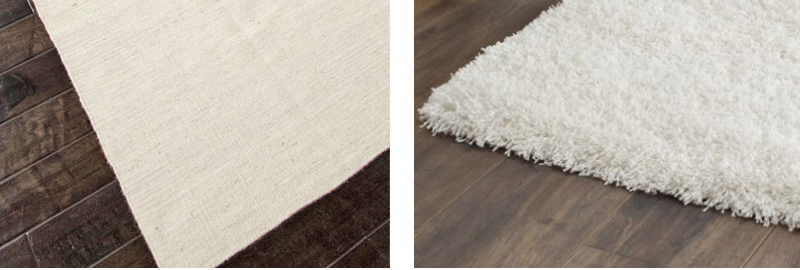 white textured rugs