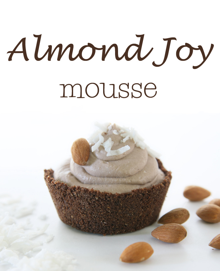 Almond Joy Mousse (made with coconut milk)