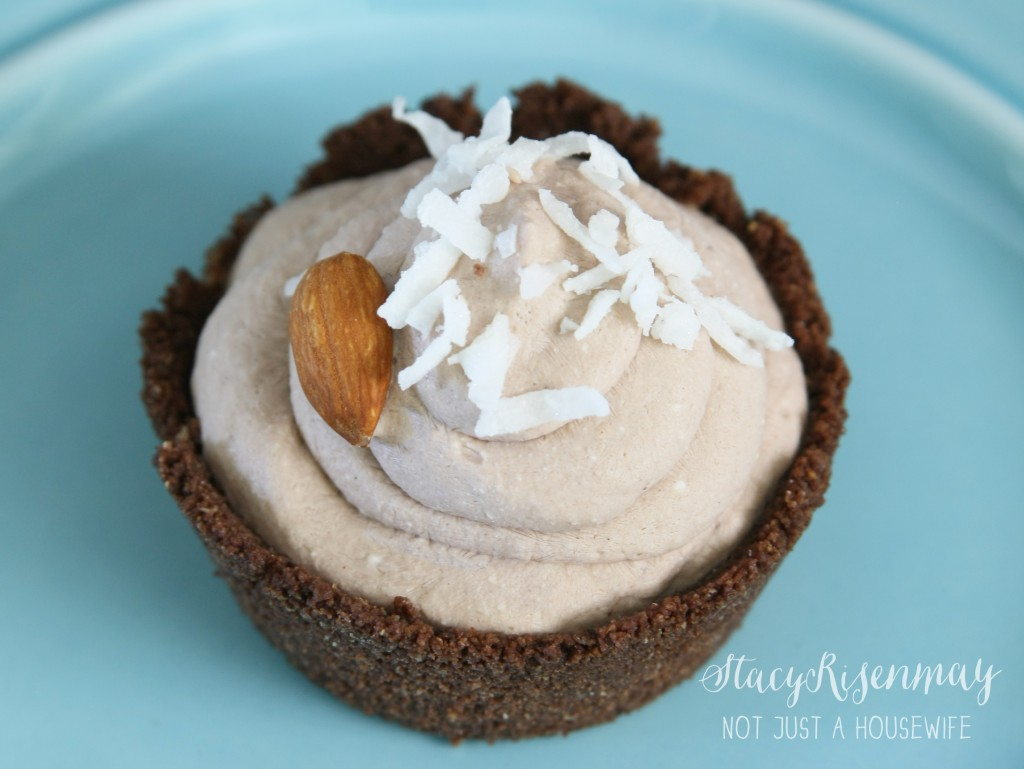 chocolate coconut mousse {Almond Joy Mousse}