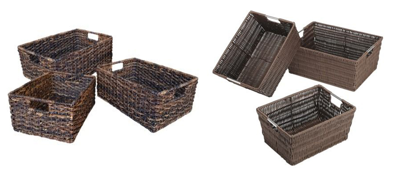 dark storage baskets More or Less {American Dream Builders} Episode #3