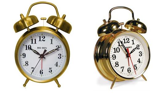 gold alarm clocks