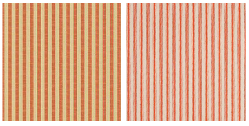 orange striped pillow fabric