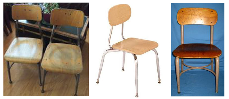 school house chair More or Less {American Dream Builders} Episode #6