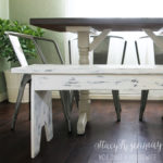 White Distressed Bench {That Started Out a Big Fat Fail}