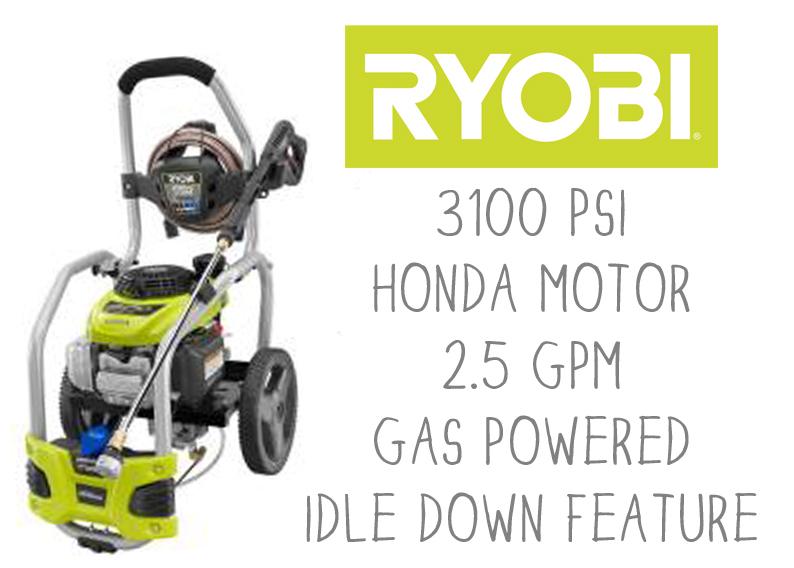Ryobi gas powered pressure washer