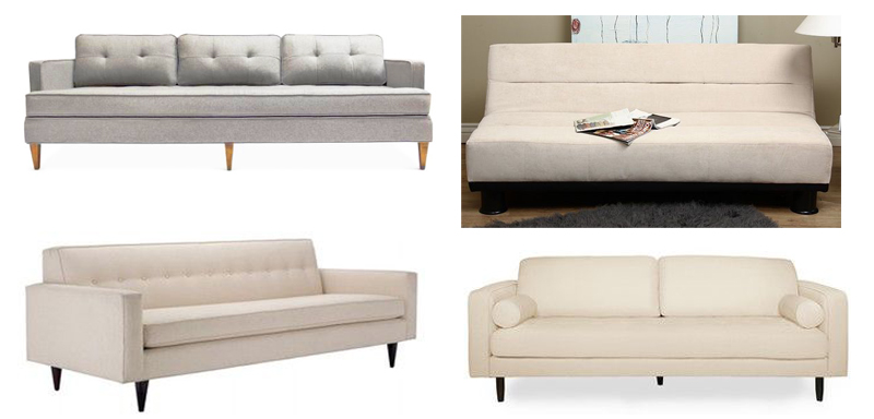 cream mid century modern couches More Or Less {American Dream Builders} Finale!