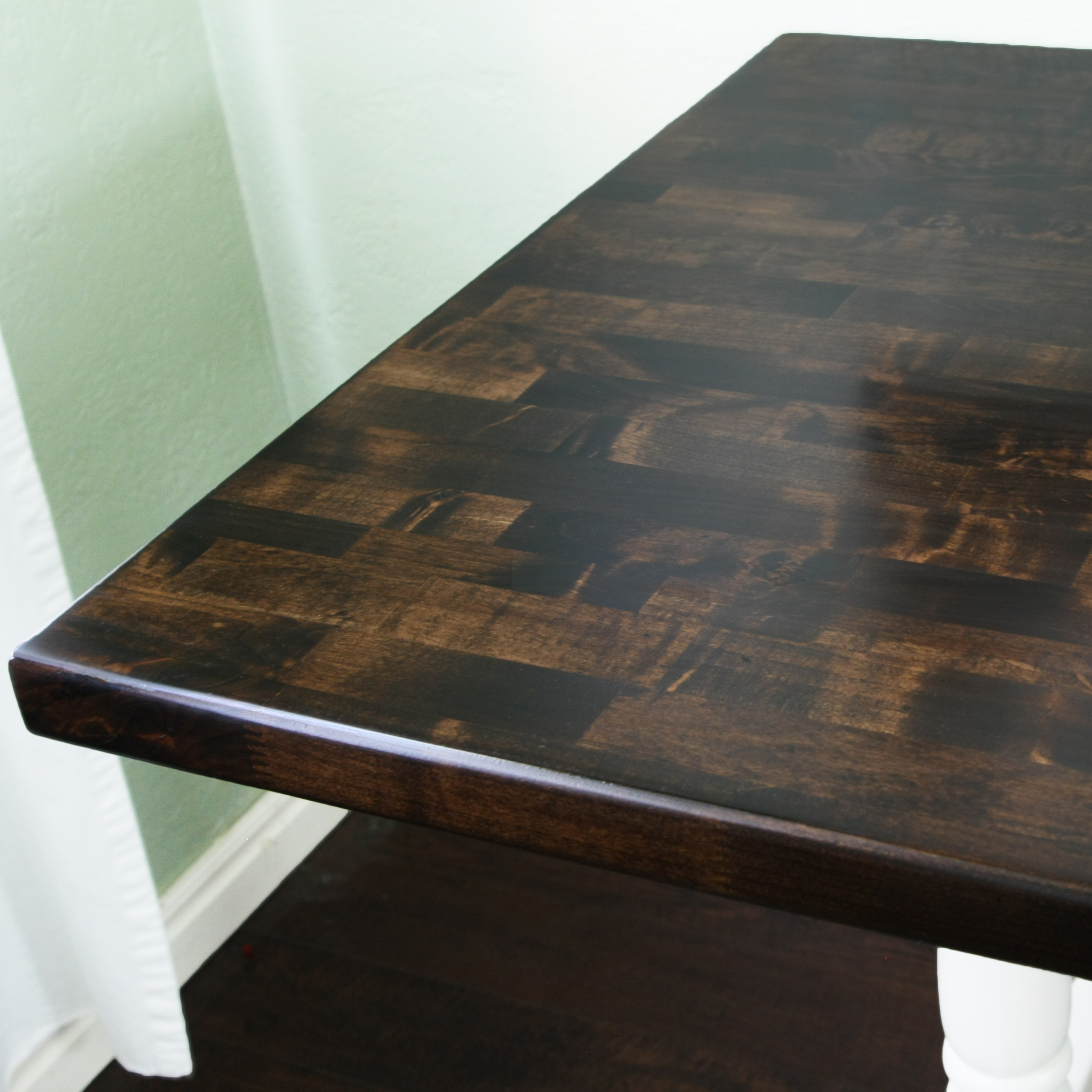 how to refinish a table stacy risenmay. Black Bedroom Furniture Sets. Home Design Ideas